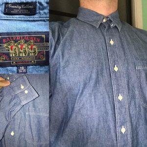 Vintage Ralph Lauren  country cottons shirt L XL
